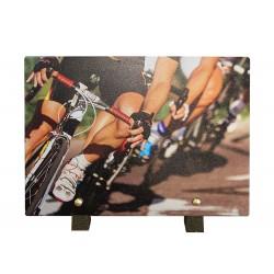 Plaque granit cycliste 18x25cm