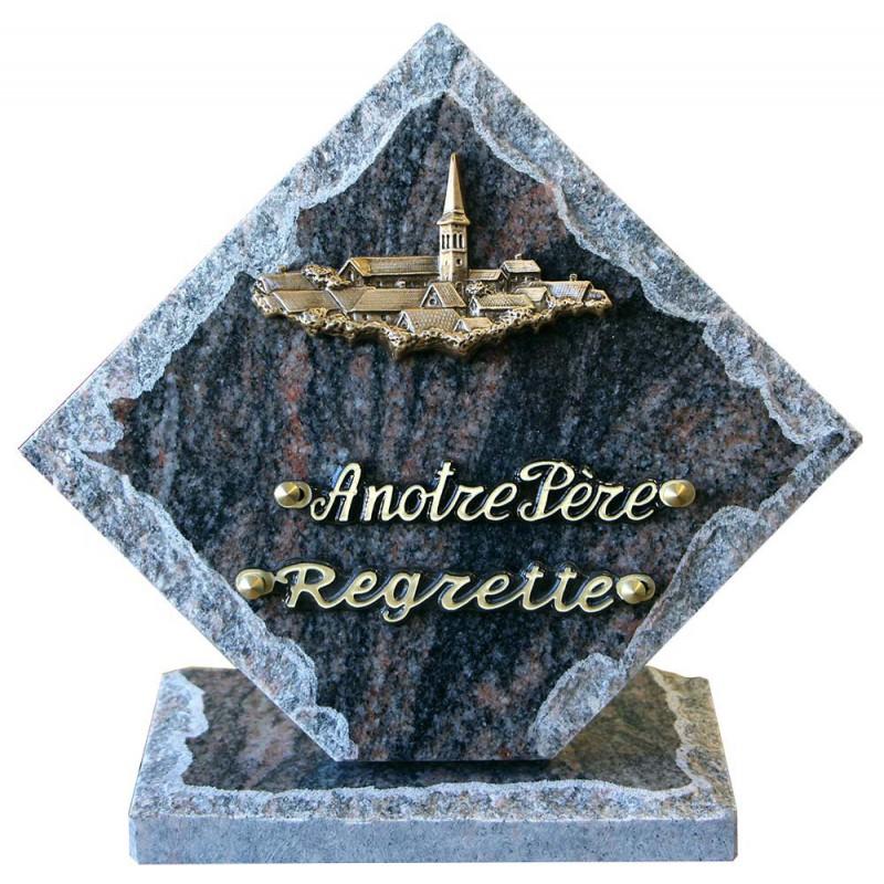 plaque mortuaire granit campagne