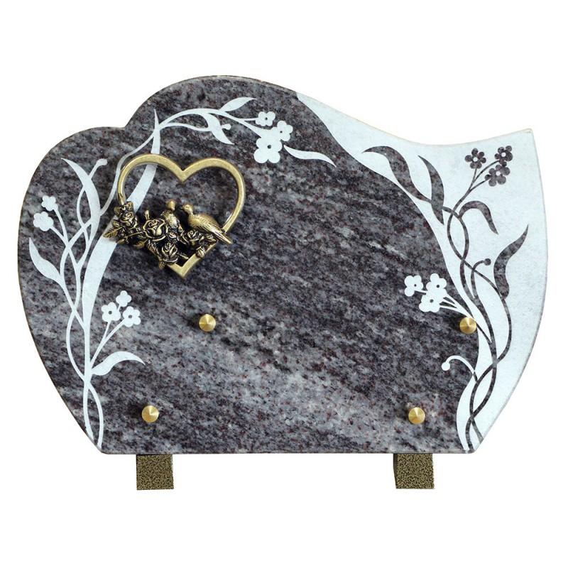 plaque cimetière en granit