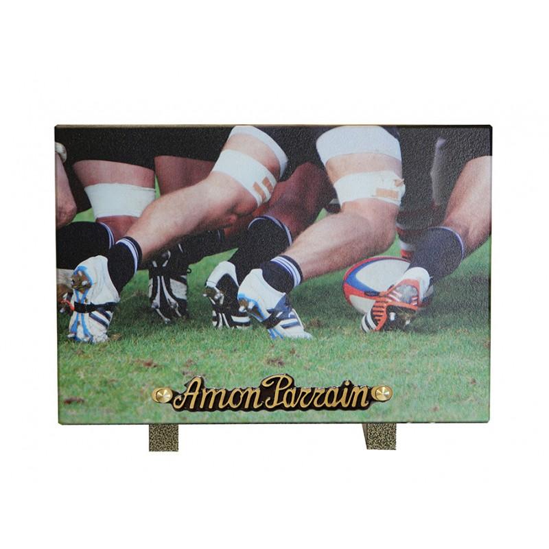 plaque funeraire rugby