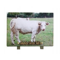plaque cimetiere avec vache