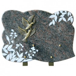 plaque tombale decor nature