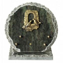 plaque cimetière ronde thème nature
