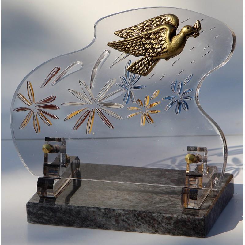 plaque funeraire altuglass colombe