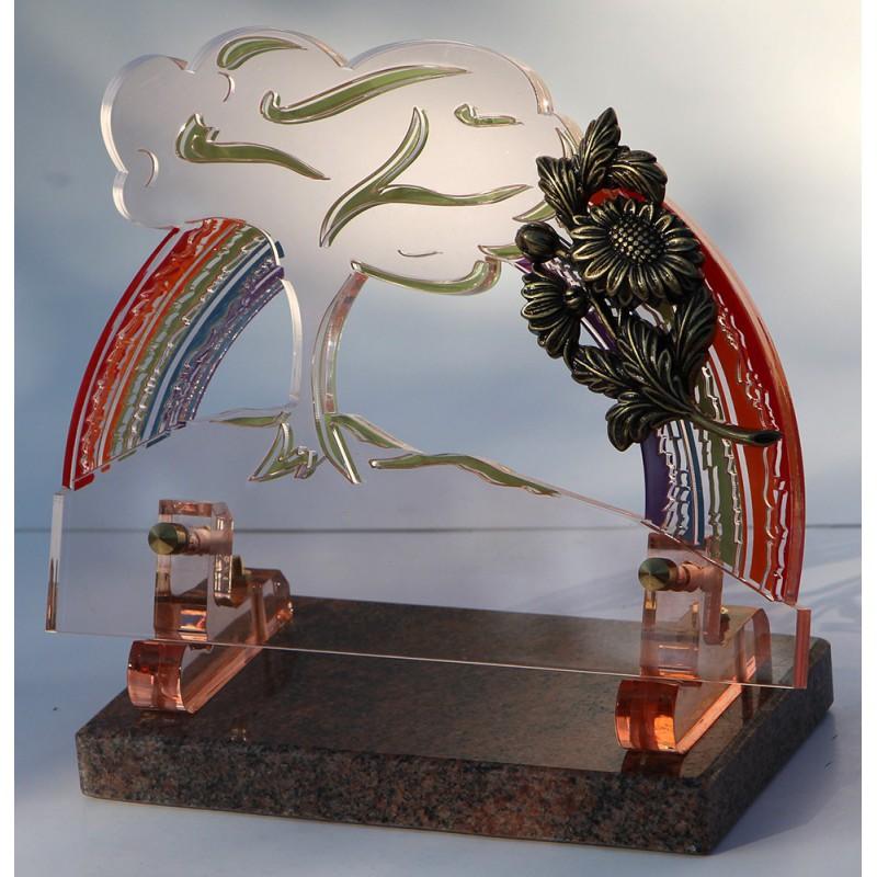 plaque funéraire altuglass forme arbre