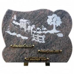 Plaque granit n°GV40 Hb...