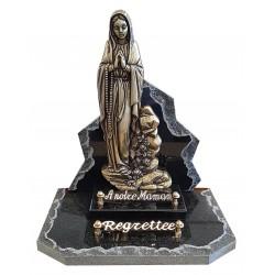 Plaque funéraire avec la Vierge de Lourdes