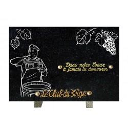 plaque mortuaire gravure de vigneron