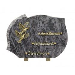 plaque mortuaire motif de colombes