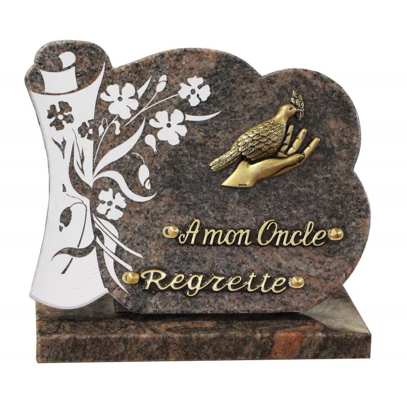 plaque funeraire theme nature