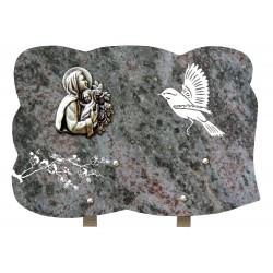 plaque funeraire religieux