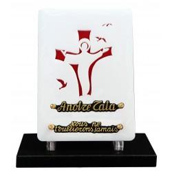 plaque funéraire moderne Christ