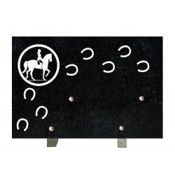 plaque mortuaire gravure de cheval