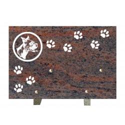 plaque mortuaire gravure de chien