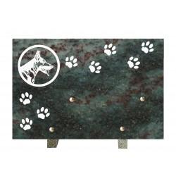plaque funeraire pour chien de compagnie