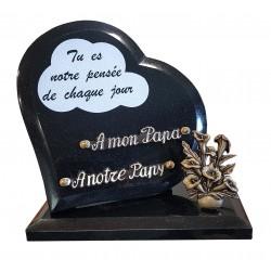 plaque tombale coeur granit