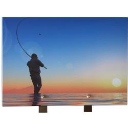 Plaque granit pêcheur 25x35 cm