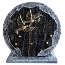 plaque cimetière colombe ronde