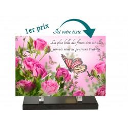 plaque funéraire papillon